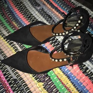 Zara Basic Collection Black Flat Shoes Sz 8